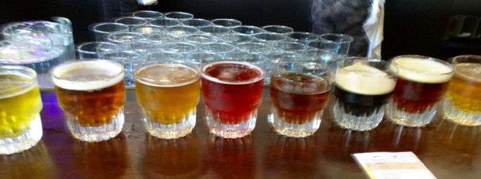 founders brewing tasting flight