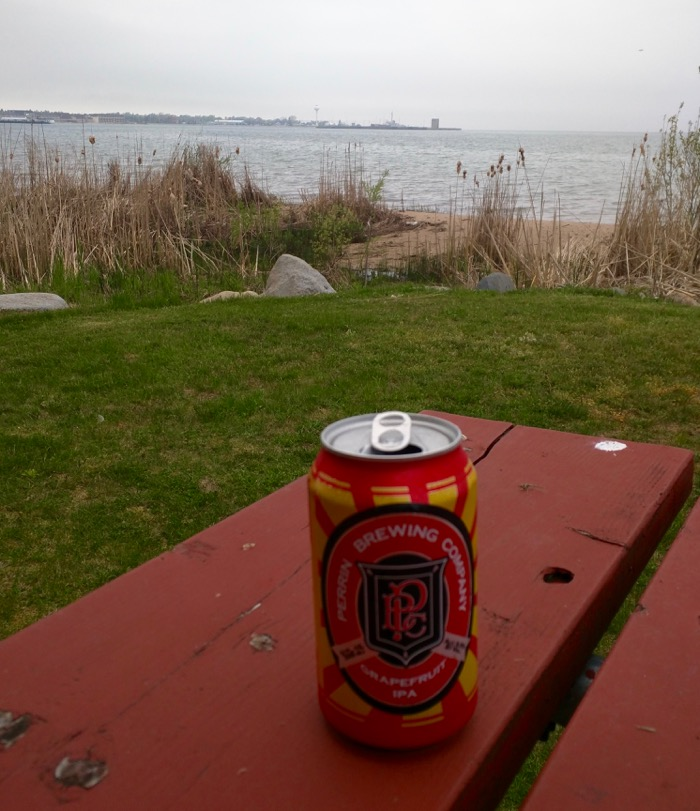 local beer by straits of mackinac