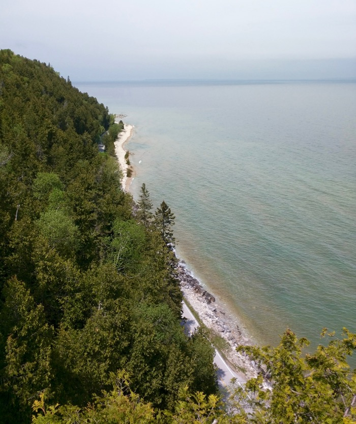 beach on mackinac island