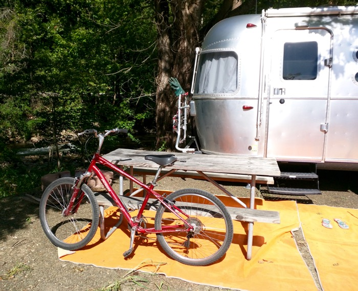 airstream and beach cruisers