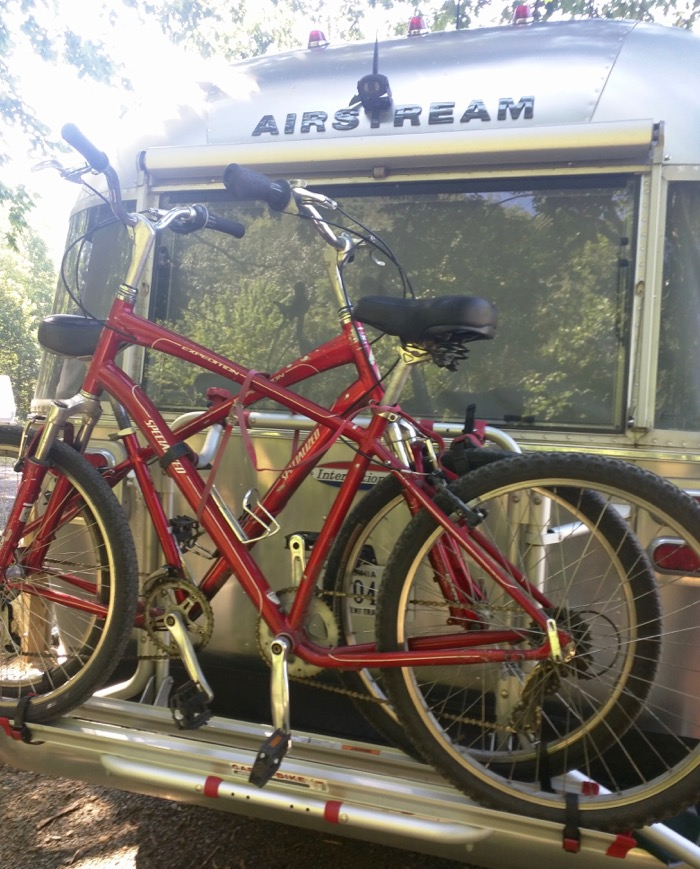 bikes on airstream fiamma rack