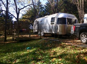 airstream at campground