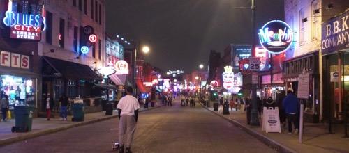 beale street at night