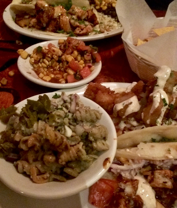 dinner at cabo fish taco