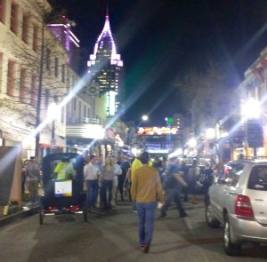 saturday night in downtown mobile