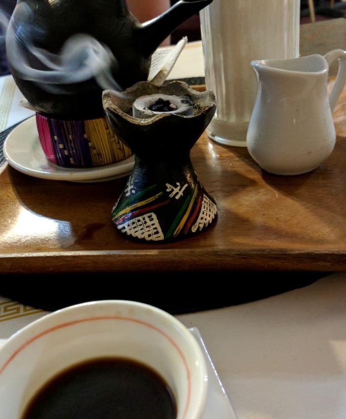 Ethiopian coffee at Gojo