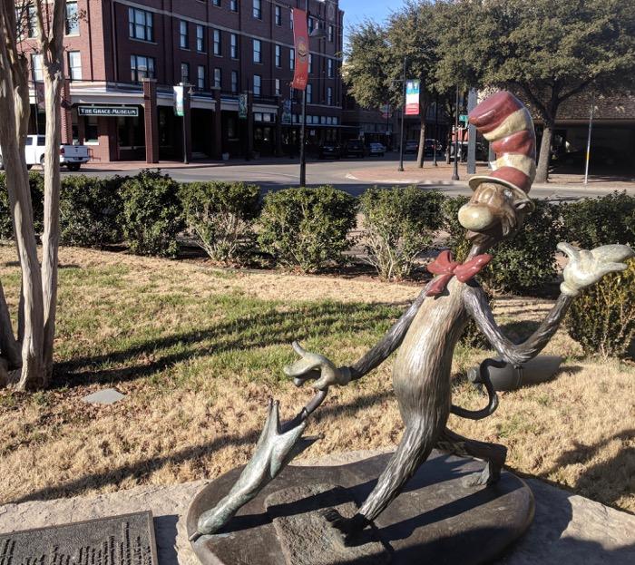 Dr Seuss statues in Abilene
