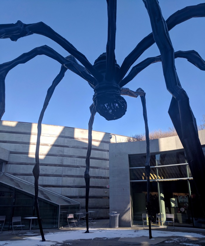 maman at crystal bridges art museum