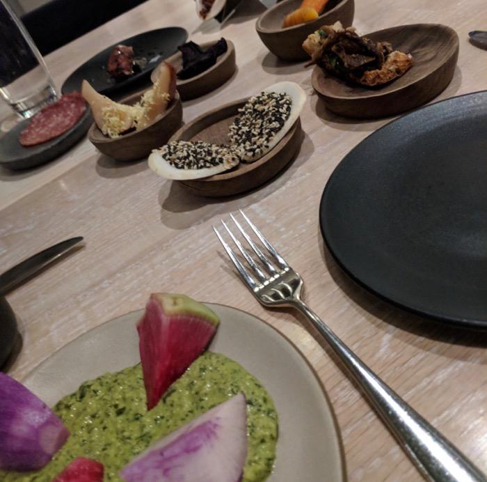 dinner at Vivia