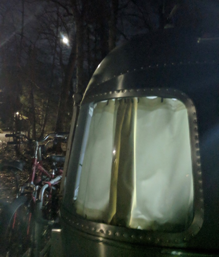before the lunar eclipse over the airstream