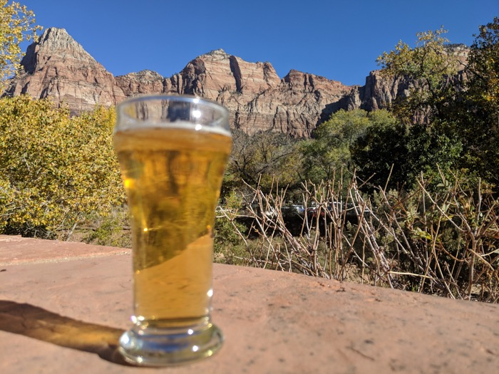 Zion Brewery view