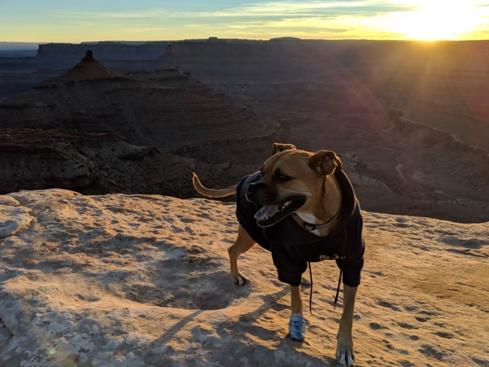 sunset on the west rim, dead horse point state park