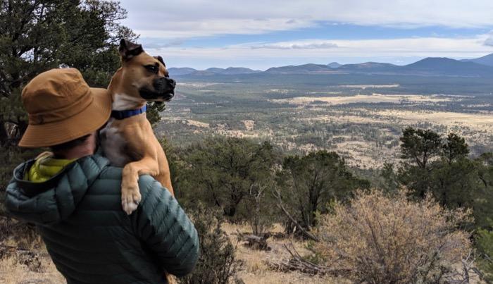 Bugsy hiking Slate Mountain Trail