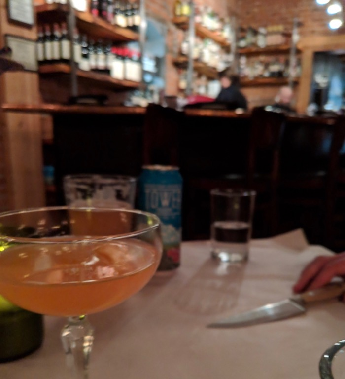 cocktail at Brix, Flagstaff