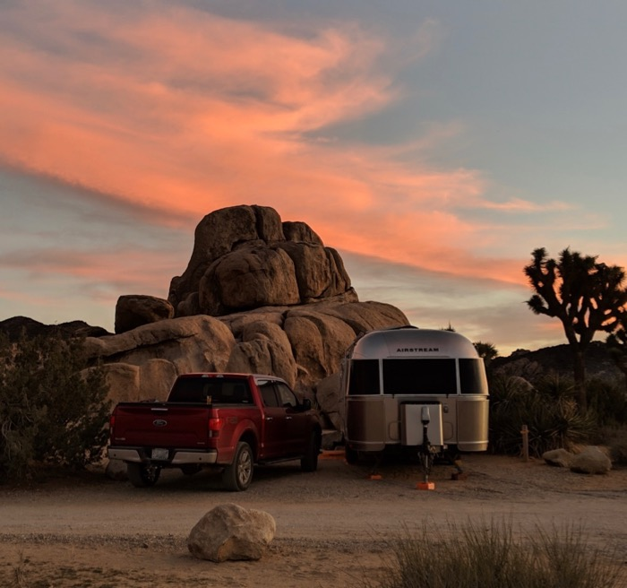 Airstream at Ryan Campground in Joshua Tree
