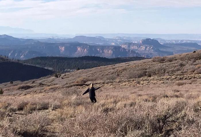 hiking Robertson Pasture near Monticello UT