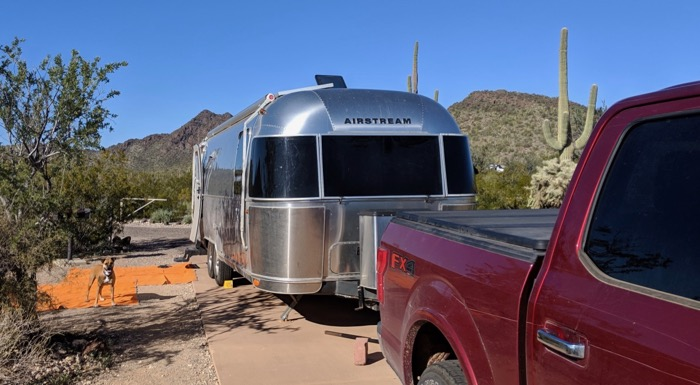 airstream camping in organ pipe