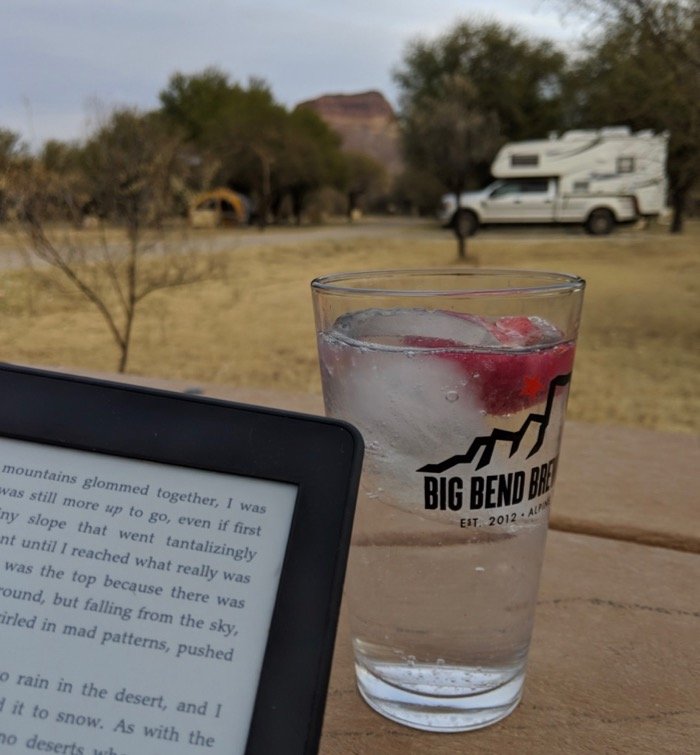 cocktail with a view in big bend