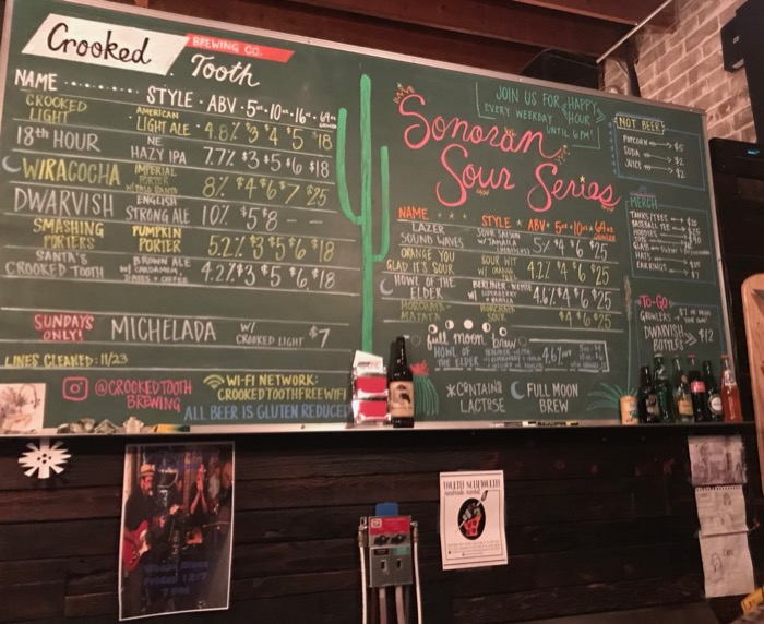 Crooked Tooth Brewing in Tucson