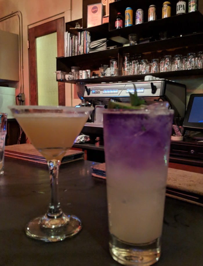 cocktails at Cup Cafe in Hotel Congress