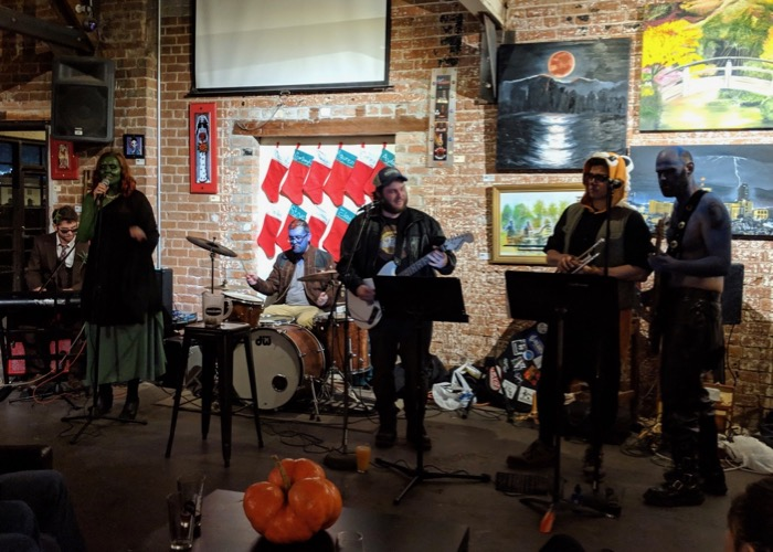 Guardians of the Galaxy-themed band at Borderlands brewing in Tucson