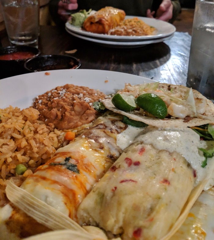 dinner at Charro in Tucson