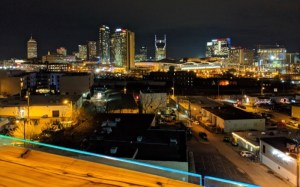nashville skyline from Up bar