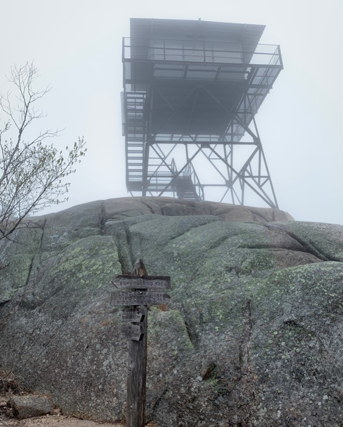 lookout tower on beech mountain acadia