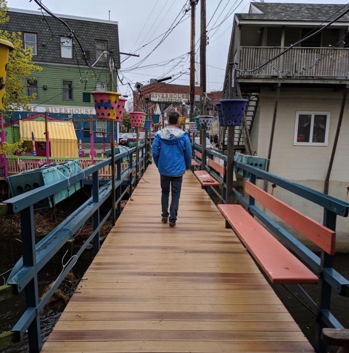 riverhouse footbridge