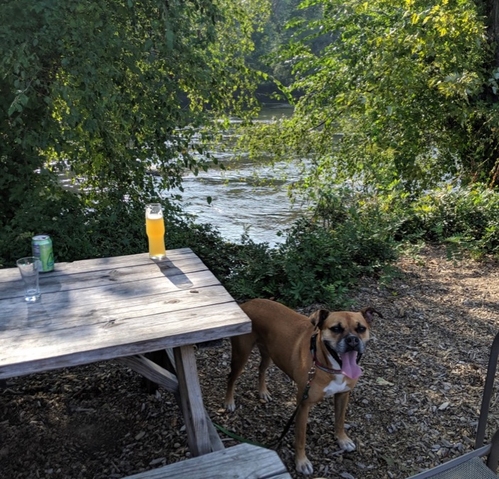beer at Zillacoah by the river