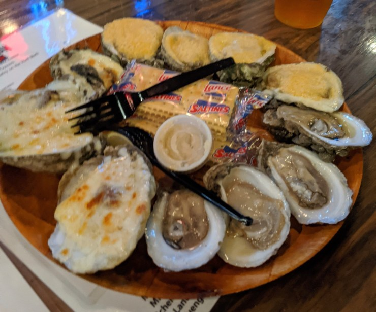 oysters at Station in Apalachicola
