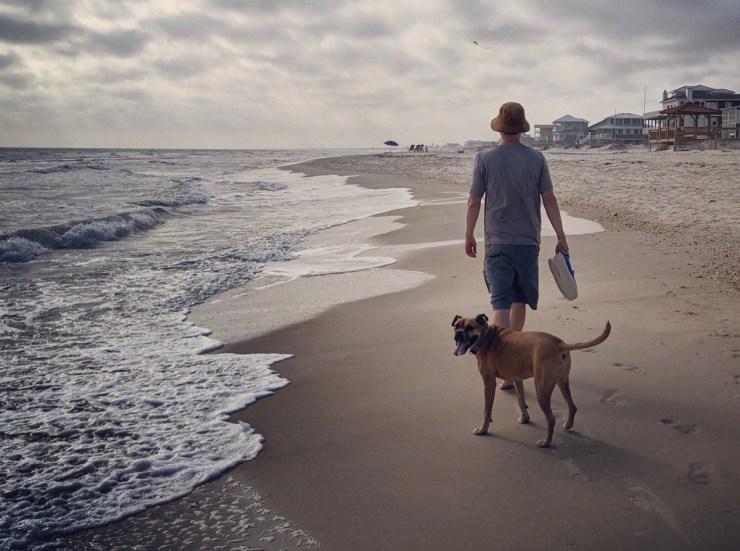 walking on the beach on St George Island