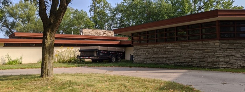 Frank Lloyd Wright house in Charles City