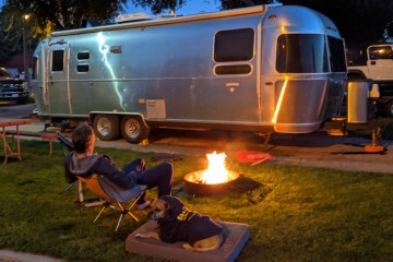 campfire at the airstream