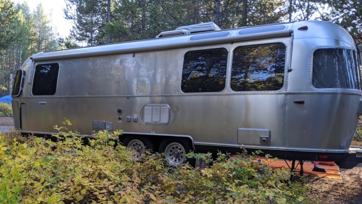 the Airstream at Signal Mountain Campground