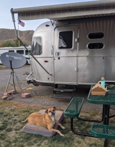 the Airstream at Meadows RV Park in Ketchum