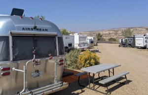the Airstream at Escalante Cabins and RV Park