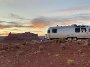 boondocking Airstream at Valley of the Gods
