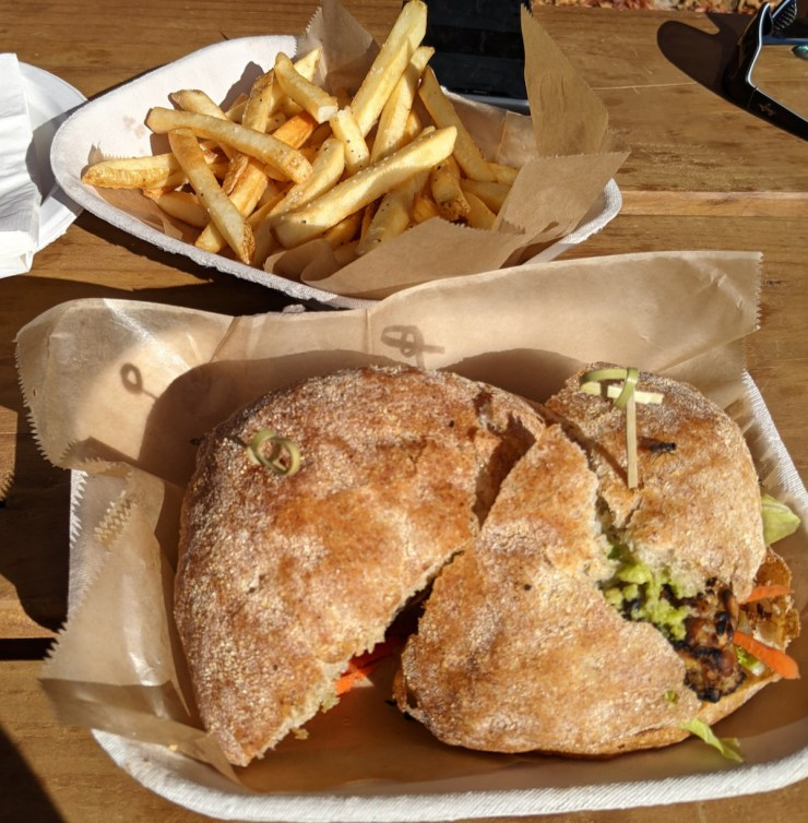 Food Container sandwich at Ska Brewing