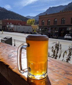 a beer at Mr Grumpy Pants brewing in Ouray