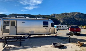 the Airstream and F-150 at Ridgway State Park
