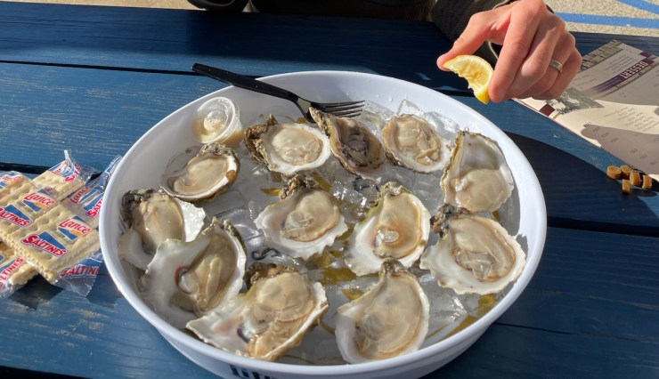 oysters at The Station in Apalachicola