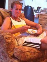 Jack eating dinner