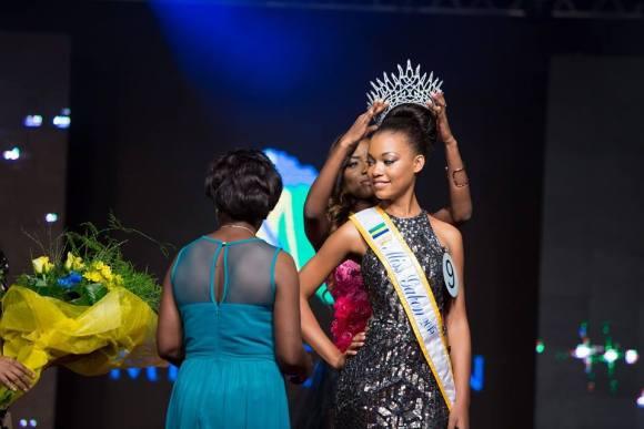 Miss Gabon 2014 Hands Over Crown To Miss Gabon 2015