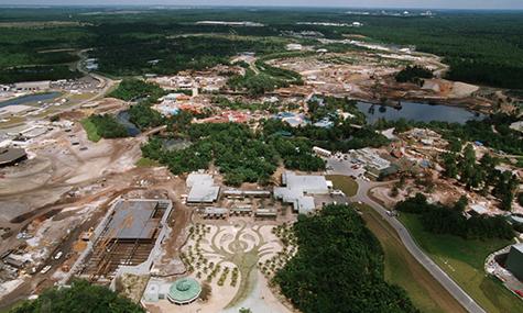 Das heutige Animal Kingdom in der Bauphase