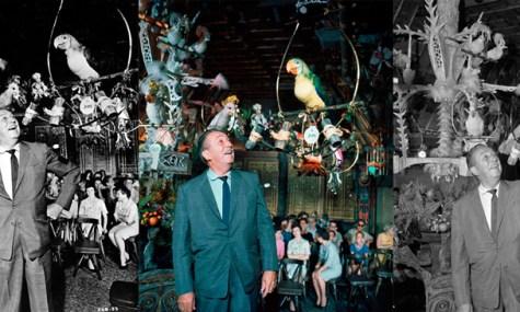 Walt Disney im Eröffnungsjahr des Tiki Rooms.