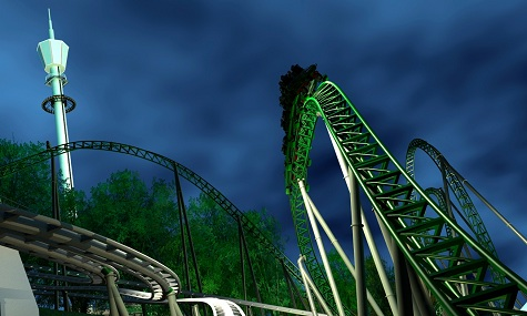 Artwork zum neuen Launch-Coaster Project Helix.