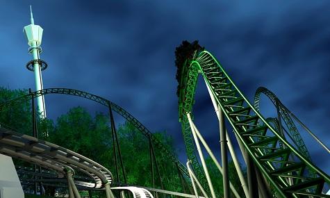 Artwork zum neuen Launch-Coaster Project Helix.