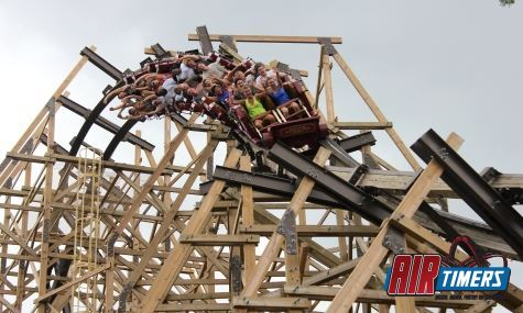 Der 153° overbanked-Turn des Outlaw Run