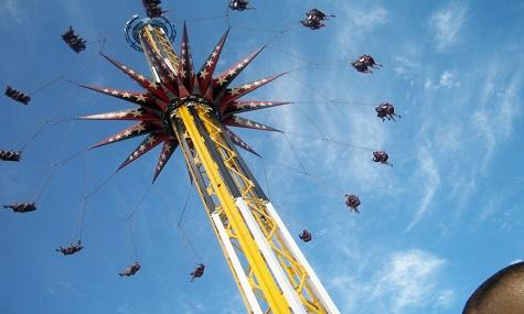 Der Starflyer Skyscreamer in Six Flags over Texas ist offiziell der höchste seiner Art.